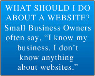 small business success from free website advice and Internet help