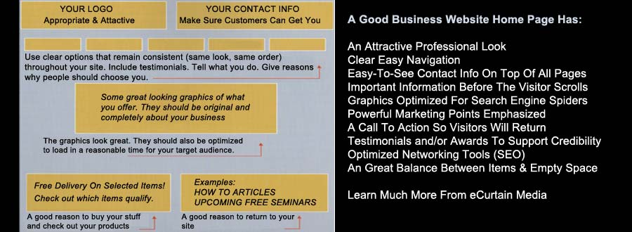 small business success great homepage example
